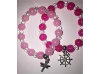 Girls beaded bracelets with charms. Brand new. £5
