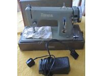 "Vintage ""Zephyr"" (Universal) Sewing Machine with mains lead and carry case"