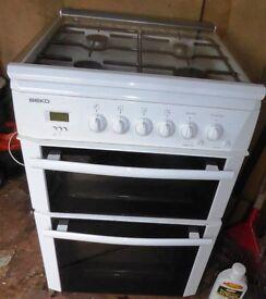 White Beko Gas Cooker