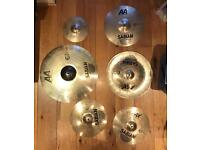 Sabian Cymbal Set including bag, used, £400 or individual prices