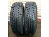 Winter tyres on alloys 2x Michelin primacy alpin 195/60R15 on ford alloys, 4 bolt focus mk1