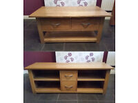 Solid Oak Coffee Table & Matching Sideboard