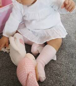Baby girl shirt 9-12 mths white