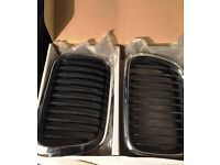 Pair of BMW E36 M3 facelift (wider E46 style) chrome kidney grill