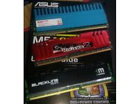 2 x 8GB DDR3 and 1 x 4GB Ram Modules (G.Skill, Mushkin and Komputer Bay)