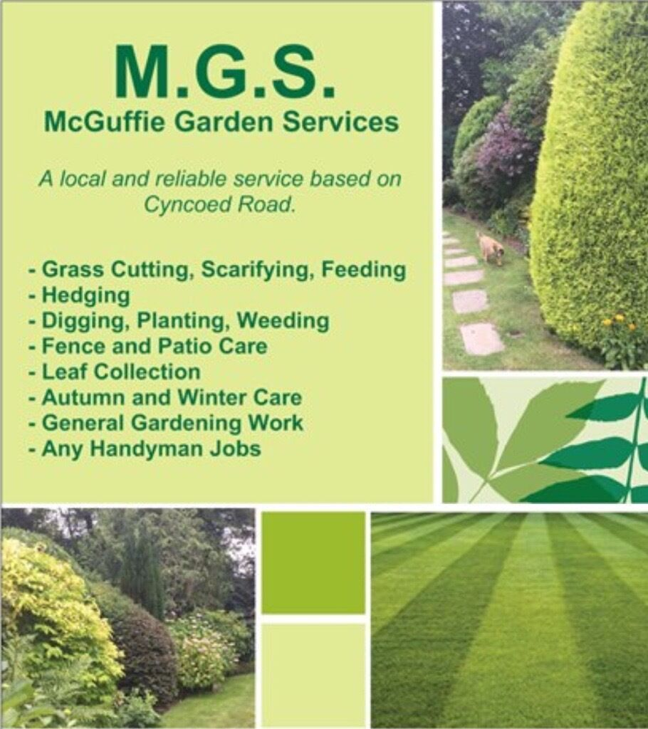 M g s mcguffie garden services in cyncoed cardiff for Gardening services