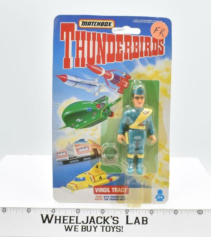 """Virgil Tracy 3.5"""" Thunderbirds New MOSC 1993 Vintage Matchbox"""