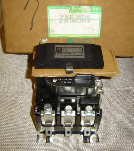 GENERAL ELECTRIC 120A CONTACTOR MOTOR STARTER GE NEW