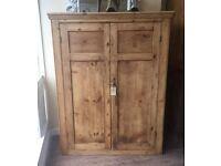 Vintage Original Wooden Linen Cupboard