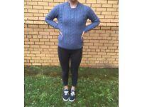 Blue Knit Jumper UK size 12
