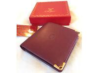 Cartier walet Must de Cartier burgundy