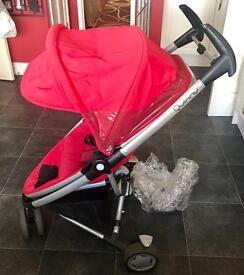 Quinny zapp xtra rebel red with cosy toes and rain cover