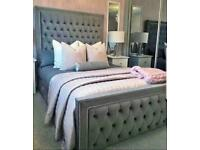 PRINCE DELUXE BED DOUBLE/KING SIZE WITH/WITH OUT ORTHOPAEDIC MATTRESS DIFFERENT FABRIC AND COLOURS