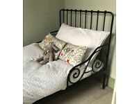 Ikea Minnen Extendable Childs Bed Black - 2 available
