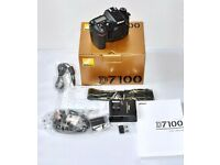 NIKON D7100 24.1MP DSLR CAMERA BODY, 1004 ACTUATIONS, AMAZON MINT 1 MONTH OLD