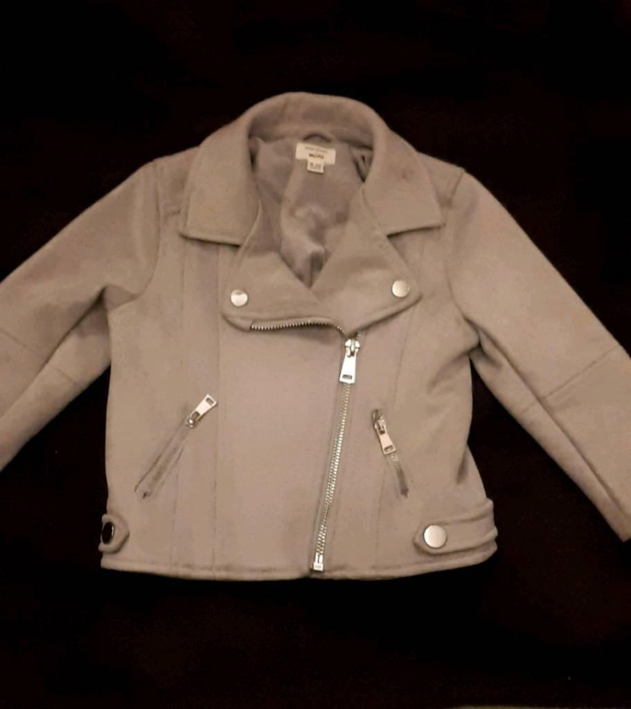 35117e7ff River island suede grey biker jacket