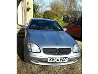 MERCEDES SLK 230 KOMPRESSOR HARD TOP CONVERTIBLE IN SILVER. LOW MILEAGE, IN REALLY GOOD CONDITION