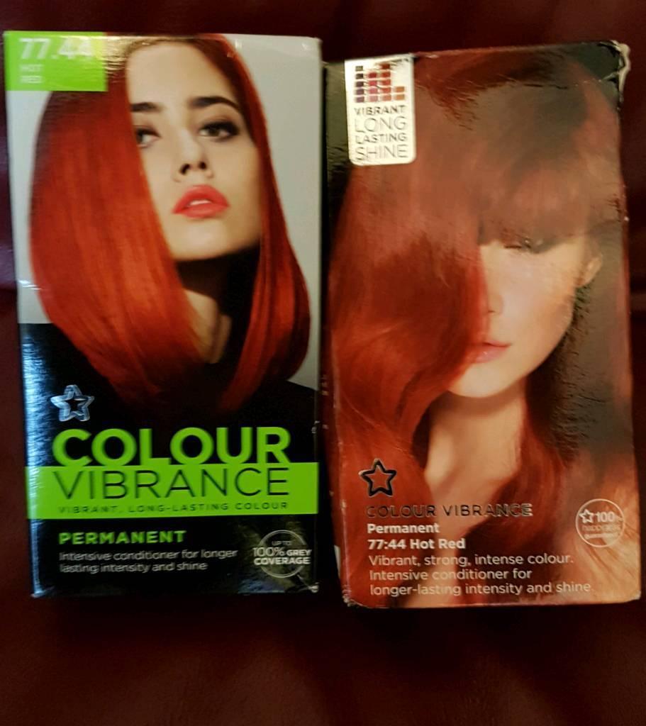 Superdrug Red Hot Hair Dye X 2 In Stoke On Trent Staffordshire
