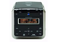 Roberts Sound38 CD/DAB/FM Stereo Clock Radio with CD Bookmark