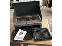 Double gas burner & grill