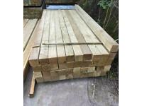 Pressure Treated Timber Fencing Posts