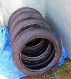 NEARLY NEW SET 4 VREDESTEIN WINTRAC WINTER TYRES - 215 x 50 R17 96V - IMMACULATE NEW REDUCED PRICE !