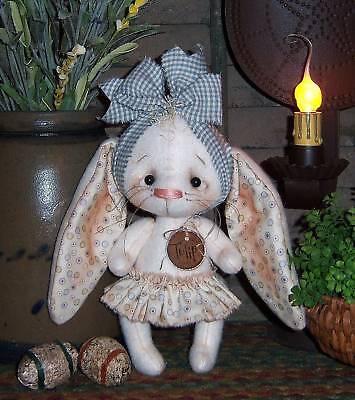 Primitive Raggedy Ann Bunny Rabbit Doll Paper Pattern #575