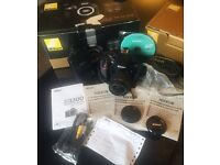 Nikon D3300 with lens and everything in the box