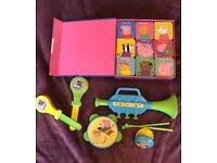 Peppa Pig Big Box of Little Books and musical instruments