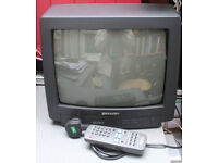 "14"" Sharp colour TV with remote"