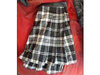 Black/White Tartan Skater Skirt