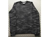 Men's Topman Jumper Black And White Small