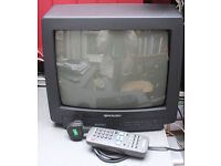 """14"""" Sharp colour television - old style - great for kids bedroom"""