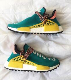Adidas Pharrell Williams Human Race NMD HU Teal Yellow Sun Glow trainers UK 9 (£350)