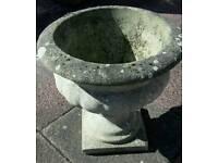 Aged stone concrete planter