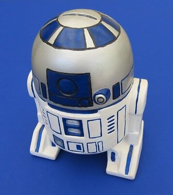 1970S 1980S Star Wars R2d2 Ceramic Piggy Coin Bank   Hand Painted  Rare