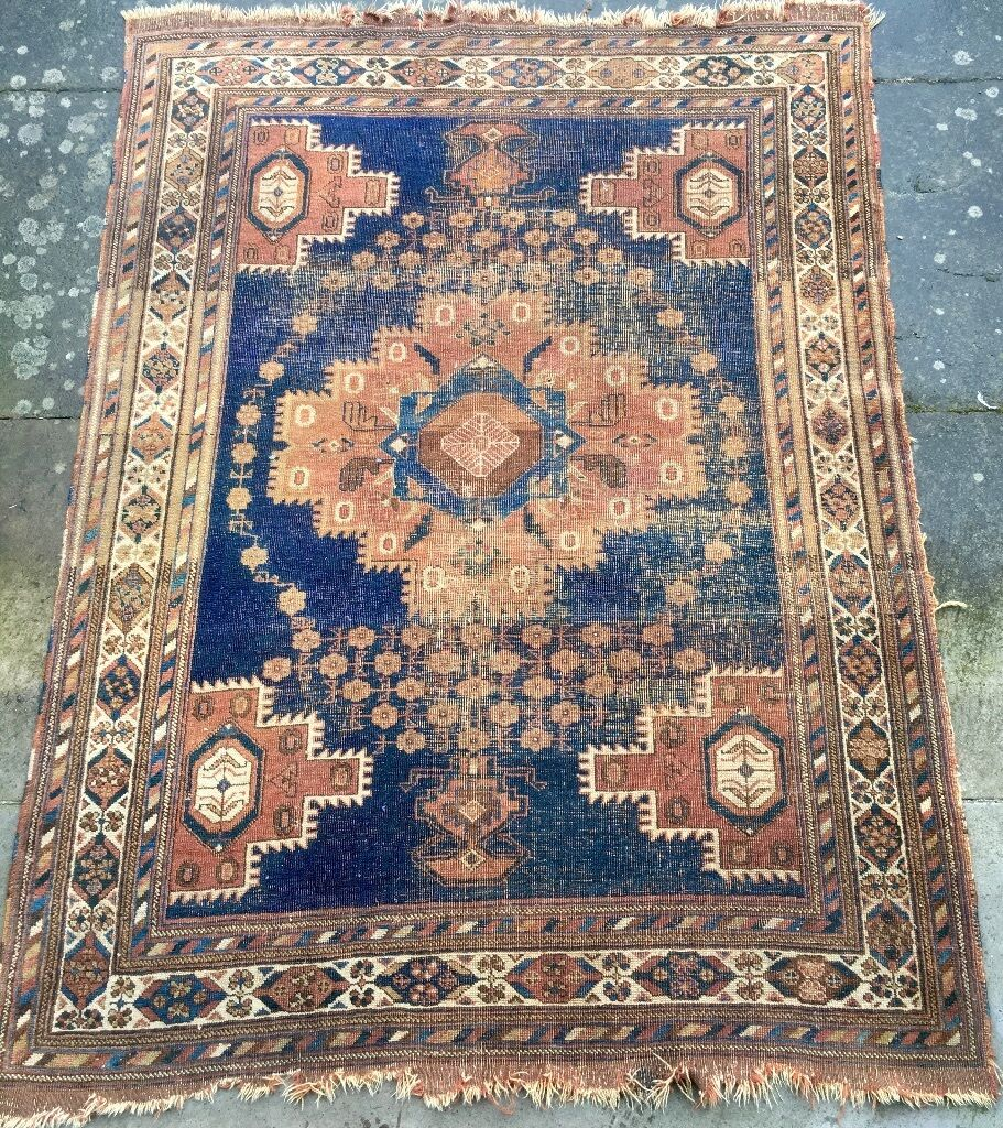 Persian Rug Edinburgh: Antique Persian Rug, Reduced Price! Small, Shabby-chic Rug