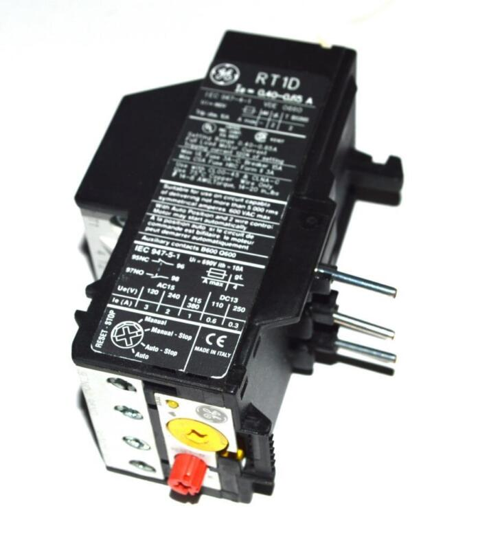 NEW GENERAL ELECTRIC RT1D OVERLOAD RELAY 0.40-0.65 AMPS