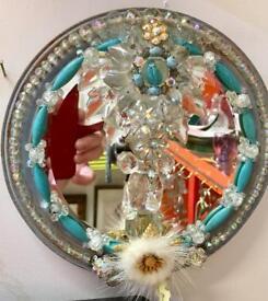Blue Crystal mirror. CHRISTCHURCH