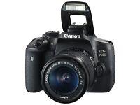 Canon Digital SLR Camera EOS 750D Kit 18-55mm IS STM DSLR. Ex Display, Never Used.