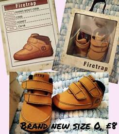 Brand new size 0 fire trap boots