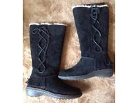 Brand new black suede Ugg boots size 4.5
