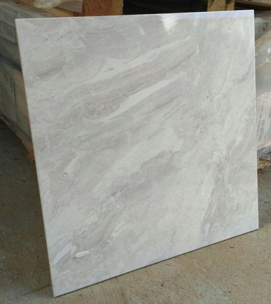 Tiles joblot 05 gorgeous greywhite marble effect 80x80cm extra tiles joblot 05 gorgeous greywhite marble effect 80x80cm extra large polished porcelain tiles dailygadgetfo Gallery