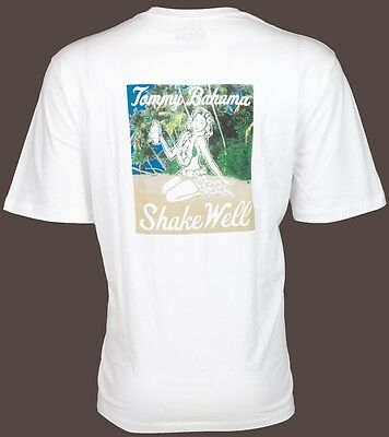 Tommy Bahama Mens T Shirt Shake Well Hula Girl Drink White Relax Camp Xl 3Xl  45