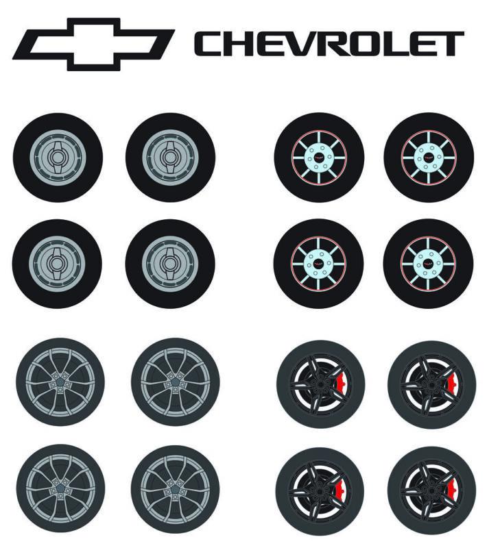 Greenlight 1:64 Auto Body Shop Wheels & Tire Packs SR 5 Corvette