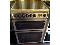 Hotpoint Silver electric cooker