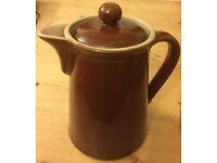 Vintage treacle glazed Bourne Denby coffee pot