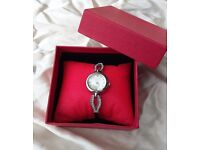 Ladies Silver Dress Watch by Omaki