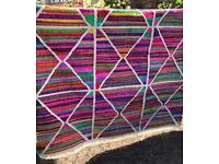 Italian Woven Kilim style Large Colourful Rug