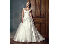 Vintage Designer Wedding Dress for Sale, never worn £295.